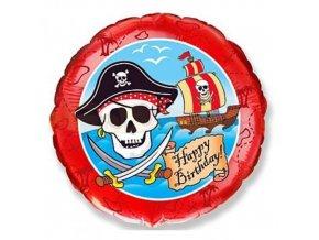 Foliový balonek Piratský Happy Birthday 45 cm