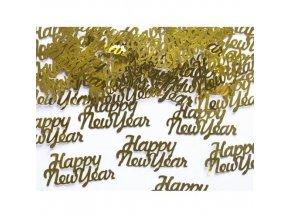 Konfety Happy New Year zlaté - 3g