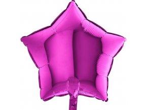 Foliový balonek hvězda fialová 45 cm