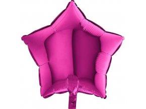 Foliový balonek hvězda tmavě růžová 45 cm