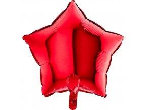 Foliový balonek hvězda červená 45 cm
