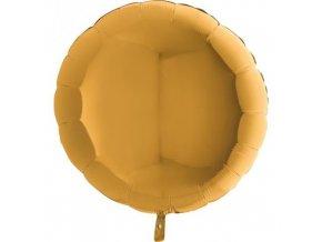 Foliový balonek kruh zlatý 45 cm