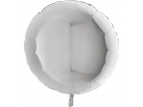Foliový balonek kruh stříbrný 45 cm