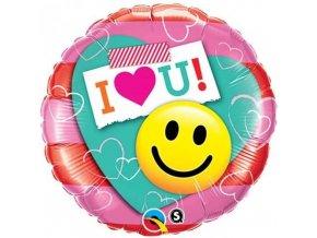 Foliový balonek zamilovaný smajlík 46 cm