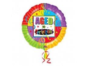 Foliový balonek Perfektní věk 45 cm