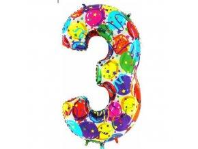 Foliová číslice - balonková 3