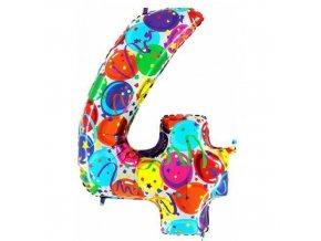 Foliová číslice - balonková 4
