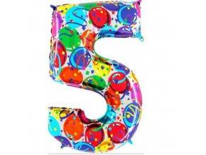 Foliová číslice - balonková 5