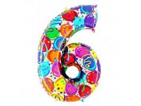 Foliová číslice - balonková 6