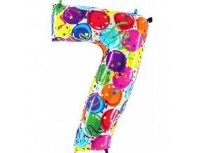 Foliová číslice - balonková 7