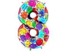 Foliová číslice - balonková 8