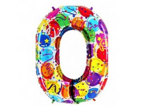 Foliová číslice - balonková 0