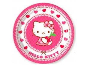 Party papírové talířky Hello Kitty 20 cm