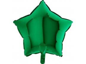 Foliový balonek hvězda zelená 45 cm