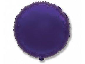 Foliový balonek kruh fialový 45 cm