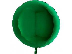 Foliový balonek kruh zelený 45 cm