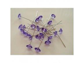 Špendlíky fialové - 72 ks - Diamant