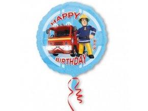 Foliový balonek Požárník Sam Happy Birthday 43 cm
