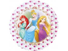 Foliový holografický balonek Princezny 45 cm