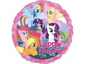 Foliový balonek My Little Pony Happy Birthday 43 cm