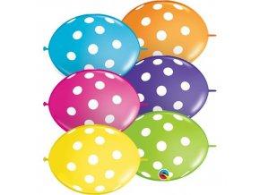 Spojovací balonek s puntíky 30 cm - 10 ks