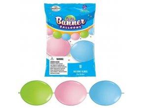 Spojovací balonek pastelové 30 cm - 10 ks
