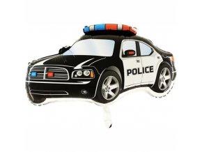 Foliový balonek Policejní auto černé 80 cm