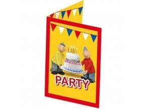 Party pozvánky Pat a Mat 8 ks