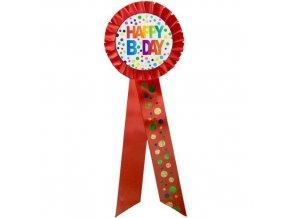 Narozeninový odznak Happy BDay