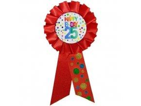 Narozeninový odznak Happy BDay 25