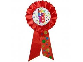 Narozeninový odznak Happy BDay 18