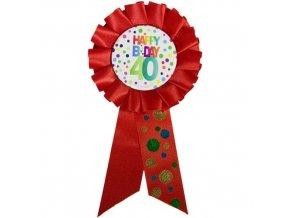 Narozeninový odznak Happy BDay 40