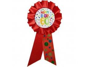 Narozeninový odznak Happy BDay 60