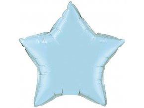 Foliový balonek hvězda pastel modrá 45 cm