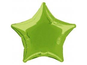 Foliový balonek hvězda světle zelená 45 cm