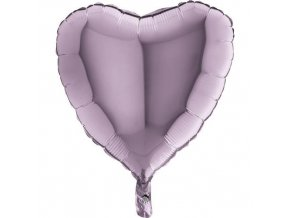 Foliový balonek srdce liliová 45 cm