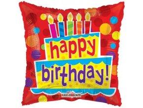Foliový balonek Pillow Happy Birthday 46 cm