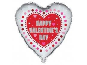 Foliový balonek srdce - Happy Valentine´s day 45 cm