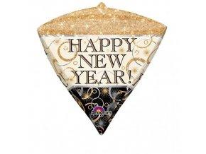 Foliový balonek diamant Happy New Year 45 cm