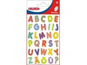 Samolepící etiketa - barevná písmena