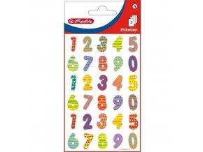 Samolepící etiketa - barevná čísla
