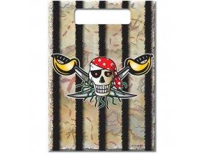 Party tašky Red Pirate 8 ks