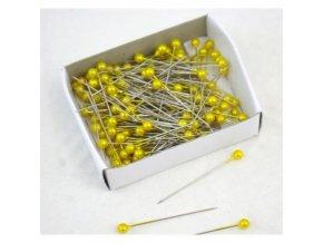 Špendlíky žluté - 144 ks