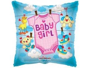 Foliový balonek pillow obleček - holka 46 cm