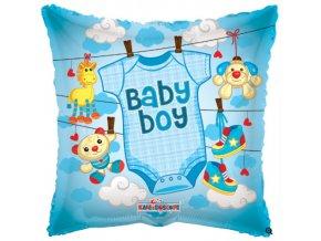 Foliový balonek pillow obleček - kluk 46 cm