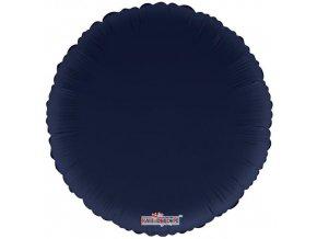 Foliový balonek kruh navy blue 46 cm