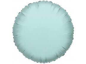 Foliový balonek kruh mátově zelená 46 cm