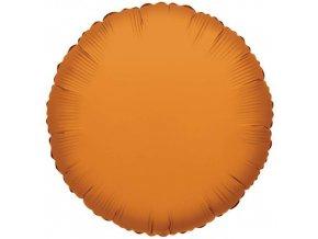 Foliový balonek kruh oranžová 46 cm