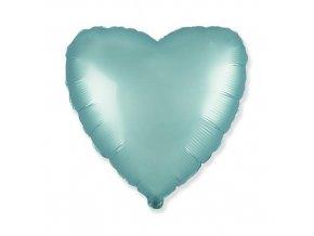 Foliový balonek saténové srdce pastel modré 46 cm