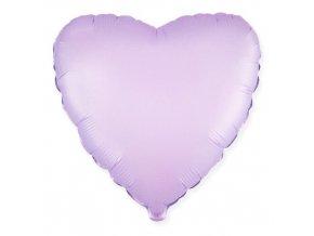 Foliový balonek saténové srdce lila 46 cm
